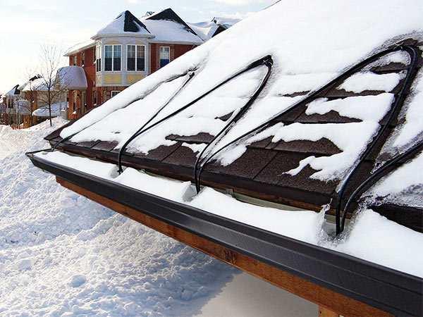 cable de calor para evitar el hielo en el tejado y los canalones