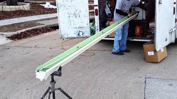 canalones de aluminio fabricación de a pie de obra