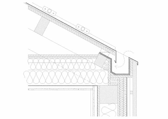 Instalación de canalones que no se ven desde el exterior