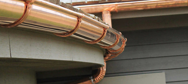 Canalón redondo de cobre
